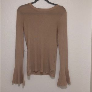H&M tan bell-bottom long-sleeve Top Size: Medium
